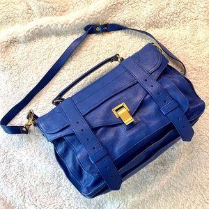 Proenza Schouler PS1 Medium Blue Leather Bag